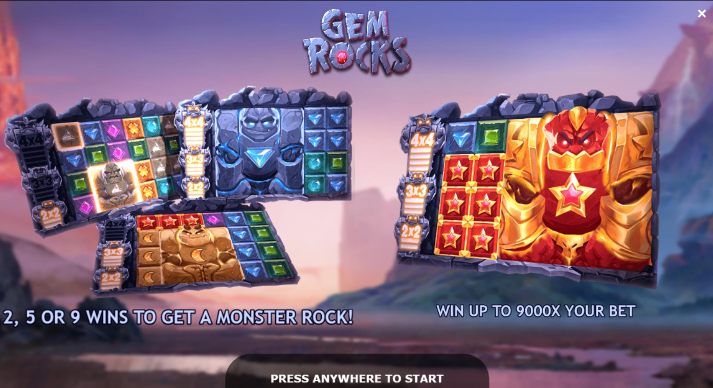 слот Gem rocks с быстрым выводом